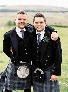 Traditional Scottish groomsmen in kilts: http://www.stylemepretty.com/2015/01/19/scottish-whisky-distillery-wedding/ | Photography: Victoria Phipps Photography - http://www.victoriaphippsphotography.co.uk/