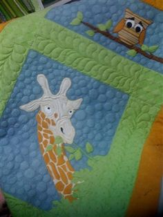 Baby Quilt...Owl and Giraffe - Quilters Club of America