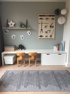 Ikea Hack Stuva desk crafting table for the nursery - Ikea DIY - The best IKEA hacks all in one place Baby Bedroom, Kids Bedroom, Ikea Kids, Kids Corner, Kid Spaces, Girl Room, Home And Living, Room Inspiration, Home Decor