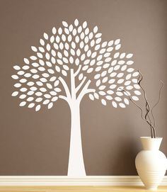 Family Tree Vinyl Decal DIY Photo Display Baby by HouseHoldWords, $75.00 73h X 60w trunk and leaves can be 2 sep colors