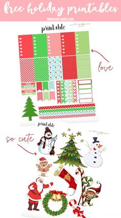 Free Holiday Planner Stickers Printable