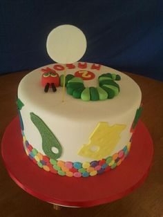 Hungry Caterpillar Cake by Who Wants Cake, Perth, Western Australia. You'll find this Cake Appreciation Society Member in our Directory at www.cakeappreciationsociety.com