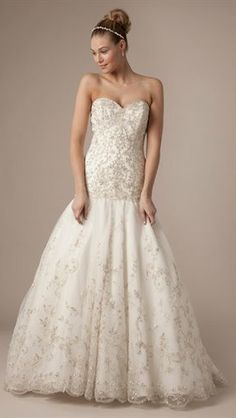 Alita Graham Wedding Dresses. don't care for the cut or the top but love the design in the skirt