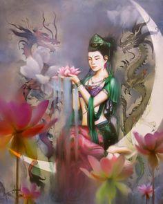 Ilustração daqui .     Olá amigos!   Muitos ainda não conhecem a Divina Mãe Kwan Yin, Deusa da Misericórida e da Compaixão.       Ela e...