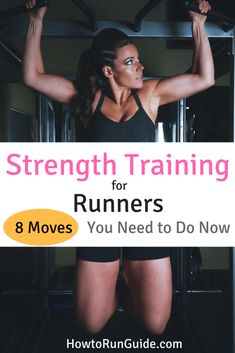 Strength Training for Runners – do these 8 moves to be a better runner. Strength Training for Runners – Fitness Workouts, Running Workouts, Running Training, Easy Workouts, Fitness Tips, Fitness Motivation, Running Form, Running Tips, Running Humor