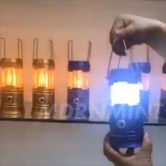 Best Camping Lantern, Camping Lanterns, Cool Gadgets To Buy, Gadgets And Gizmos, Accessoires Camping Car, Cool Inventions, Camping Activities, Mason Jar Lamp, Solar Lights