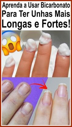 Aprenda A Usar Bicarbonato Para Ter Unhas Mais Longas E Fortes! Beauty Nails, Beauty Makeup, Fitness Studio, Take Care Of Yourself, Your Skin, Lose Weight, Nail Art, Health, How To Make