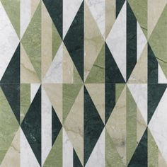 Tangram is a line of precious inlaid tiles designed with attention to the environment, thanks to a production process granting near-zero material waste. Marble Wall, Marble Tiles, Marble Floor, Fireplace Facing, Economies Of Scale, Tangram, Display Banners, Stone Panels, Green Colour Palette