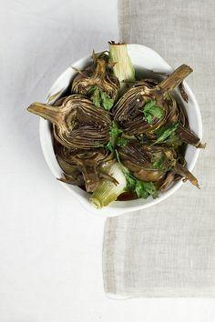 ... roasted artichokes ...