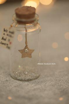 Bottle Charms, Bottle Necklace, Bottle Art, Magic Bottles, Glass Bottles, Boyfriend Gifts, Girlfriend Gift, Personalized Birthday Gifts, Miniature Crafts