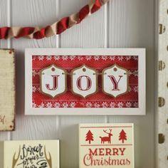 Joy Gift Tag Framed Sign | Kirklands