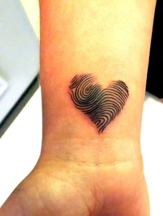 fingerprint heart tattoo ideas - Google Search