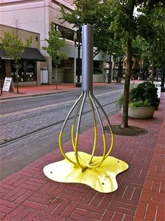 Not only will it hold your bike, this #bike rack will also make you #ROFL