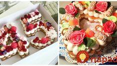 To je nápad! Mini Cupcakes, Cupcake Cakes, Alphabet Cake, Pavlova, Cake Designs, Food And Drink, Baking, Desserts, Recipes