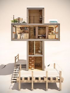This 'energetically independent' tiny house is shaped like a cross | MNN - Mother Nature Network