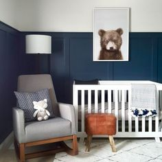 Project Nursery - Modern Bear Woodland Nursery