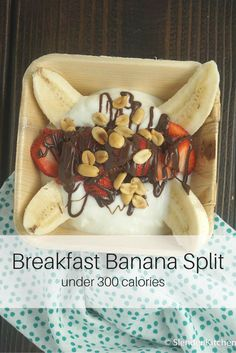 WW 6 SMART POINTS - What could be better than starting your day with a banana split?  For this healthier, breakfast twist on your favorite classic dessert we are going to switch out the ice cream for light vanilla yogurt...