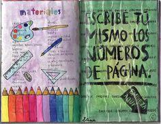Materials, page numbers / Materiales, números de página.  Wreck This Journal. Destroza este diario. #wreckthisjournal #destrozaestediario