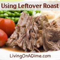 Using Leftover Roast and Recipes