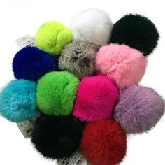 Pom Pom keychain/purse charms. So fun.