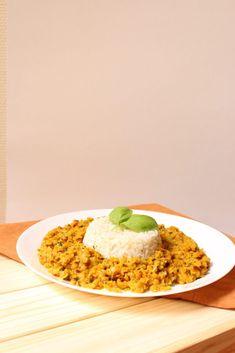 Dhal de lentille corail vegan et ayurvédique Risotto, Grains, Vegan Recipes, Rice, Gluten Free, Fresh, Ethnic Recipes, Foodies, Yummy Recipes