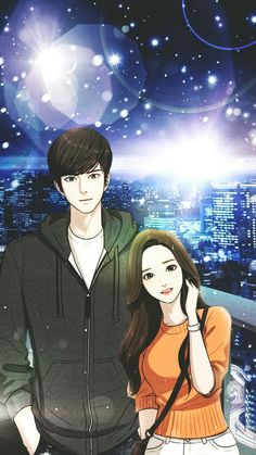 Anime Couples, Cute Couples, Graduation Cartoon, Flawless Webtoon, Cute Love Stories, Webtoon Comics, Couple Illustration, Anime Love Couple, Giant Paper Flowers