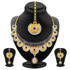 Bewitching Gold Plated AD Necklace Set For Women