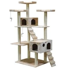 Go Pet Club Jungle Gym Cat Tree Condo And Perch Pet Furniture   Free  Shipping Today