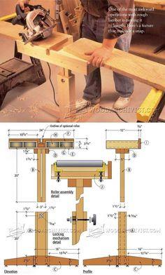 Circular Saw Cut Off Stand Plan - Circular Saw Tips, Jigs and Fixtures | WoodArchivist.com #woodworkingtips