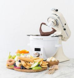 Chocolate Fondue is easy to make with the KitchenAid® Precise Heat Mixing Bowl. Visit our blog to learn how @sugarandcharm makes hers.