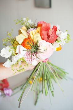 Paper flower bouquets can be gorgeous and last forever! Michelle Edgemont   Decorations. Florals. Styling. Awesome.