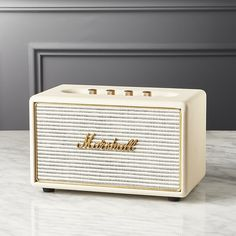 Free Shipping. Shop Marshall Acton Cream Multi-Room Wifi Speaker. Iconic design meets classic Marshall performance in this compact multi-room speaker.
