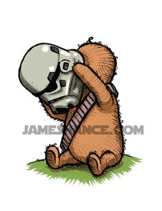Wookie the Chew - Adorable Star Wars and Winnie the Pooh Parody Art - News - GeekTyrant Star Wars Nursery, Star War 3, Nerd Love, Love Stars, Geek Out, Star Wars Art, Bowser, Winnie The Pooh, Nerdy
