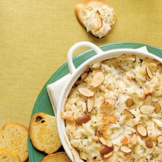 Hot Crab and Shrimp Dip - serve with toasted baguette slices