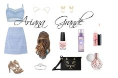 """Ariana grande outfit"" by charlotte-schwartz ❤ liked on Polyvore featuring Lipsy, MAC Cosmetics, Modern Bride, Elvi, OPI and Charlotte Olympia"