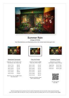 Summer Rain Available for Sale on FineArtAmerica!  http://fineartamerica.com/featured/summer-rain-muhammed-cihad-aydin.html #fineartamerica #sale #art #wall #canvas #gift #print #photo #flower #store #raining #rainy #prague #wandering #travel #vacation #artistic #colorful