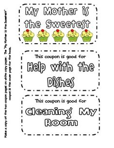 FREE Mother's Day Cupcake Coupon Book!!