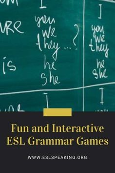 Check out the top picks for interactive grammar games and activities for kids, teenagers or adults. Have some fun with English grammar! #grammar #game #english #englishgrammar #teaching #teachinggrammar Grammar Games, Good Grammar, Grammar Practice, Teaching English Grammar, Grammar Activities, Teach English To Kids, English Fun, Fun Classroom Games, Speaking Games