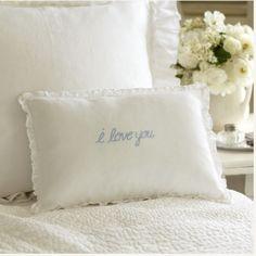 I Love You Boudoir Pillow