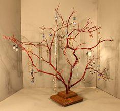 Jewelry Tree  Large Twin Branch Manzanita  1003 by RedBarkDesigns, $39.00