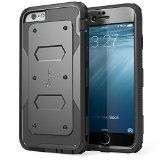 iPhone 6 Case, [Heave Duty] **Slim Protection** i-Blason Apple iPhone 6 Case 4.7 inch Armorbox [Dual Layer] Hybrid Full-body Protective Case with Front Cover and Built-in Screen Protector / Impact Resistant Bumpers Cover for iPhone 6 (Black) - http://wp.me/p4ZNgm-DY -  i-Blason Armorbox – [Yellow Jacket] Series Dual Layer Armored Rugged Protective Case with Built-in Screen Protector for Apple iPhone 6 4.7 inch    Warning: This Case is Custom Fit for Apple iPhone 6 4.7 I