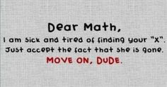 math... move on