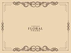 Invitation Floral, Wedding Invitation Background, Retro Background, Geometric Background, Floral Retro, Flower Graphic Design, Retro Crafts, Doodle Frames, Hand Drawn Flowers