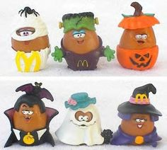 Vintage McDonald's Happy Meal Toys, ALL Halloween McNugget Buddies, Chicken Mcnuggets, circa 6 in Lot, Food Toys Mcdonalds Happy Meal, Mcdonalds Toys, Mcdonalds Chicken, 90s Childhood, My Childhood Memories, Sweet Memories, School Memories, Gi Joe, Anos 80