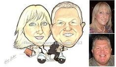 caricature moped client