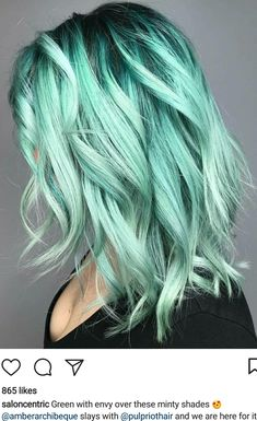2019 Optimal Power Flow Exotic Hair Color Ideas for Hot and Chic Celebrity Hairstyles – Page 15 – My Beauty Note Frisuren 2019 Optimal Power Flow Exot. Exotic Hair Color, Bold Hair Color, Hair Dye Colors, Amazing Hair Color, Pastel Hair Colors, Pastel Green Hair, Colorful Hair, Pastel Colored Hair, Green Hair Ombre