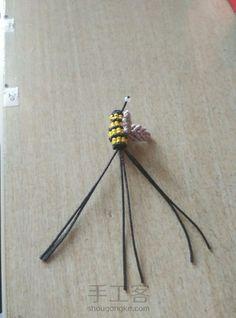 Macrame Knots, Micro Macrame, Macrame Tutorial, Bobby Pins, Bee, Hair Accessories, Animals, Bees, Amigurumi