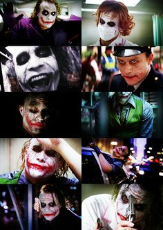 Heath Ledger as the Joker-amazing, amazing performance by an actor who was taken from us way too soon.