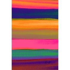 Perfect hanging above your living room sofa or creating a stylish focal point in the master suite, this lovely canvas print showcases a multicolored stripe m...
