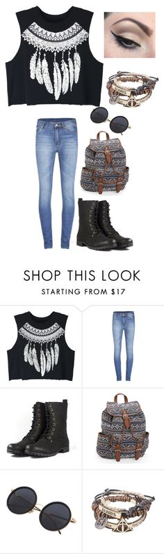 """""""Untitled #4117"""" by kaitoven on Polyvore featuring WithChic, Cheap Monday, Aéropostale and Mehron"""